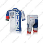 2012 Team ROCK RACING America Cycling Kit White Blue