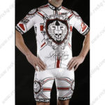 2012 Team ROCK RACING London Riding Kit White Red