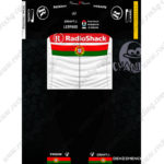 2012 Team RadioShack Portugal Cycling Kit Black White Red