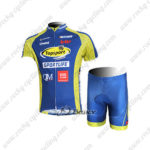 2012 Team Topsport Cycling Kit Blue Yellow