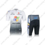 2012 Team cervelo Cycling Kit White Grey