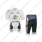 2012 Team cervelo Riding Kit White Black