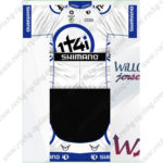 2013 Team 1t4i SHIMANO Cycling Kit White Blue