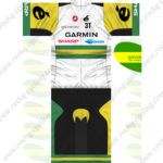 2013 Team 3T GARMIN SHARP Cycling Kit White Green Yellow
