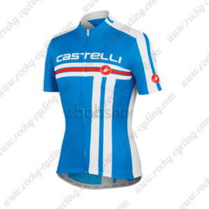 2013 Team Castelli Cycling Jersey Maillot Shirt Blue
