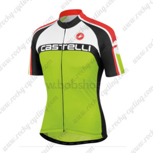 2013 Team Castelli Cycling Jersey Maillot Shirt White Green