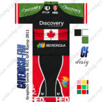 2013 Team Discovery IBERDROLA Canada Cycling Kit Green Black Red