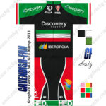 2013 Team Discovery IBERDROLA Hungary Cycling Kit Green Black Red