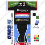 2013 Team Discovery IBERDROLA Luxembourg Cycling Kit Green Black Blue