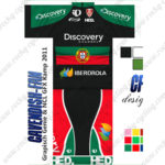 2013 Team Discovery IBERDROLA Portugal Cycling Kit Green Black Red