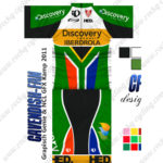 2013 Team Discovery IBERDROLA South Africa Cycling Kit Green