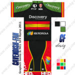 2013 Team Discovery IBERDROLA Spain Cycling Kit Green Black Red