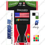2013 Team Discovery IBERDROLA USA Cycling Kit Green Black Red