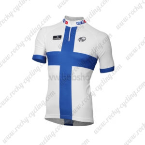 2013 Team FDJ Cycling Jersey Maillot Shirt White Blue