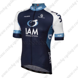 2013 Team IAM Cycling Jersey Maillot Shirt Blue