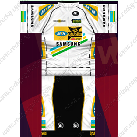 b5d92f754 ... Riding Clothing Summer Winter Cycle Jersey and Padded Shorts Pants  White. 2013 Team MTN Qhubeka Cycling Kit White Black