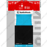 2013 Team RadioShack Cycling Kit Red Blue Black