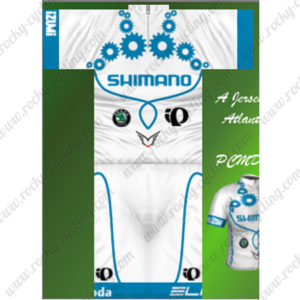 2013 Team SHIMANO Pearl Izumi Cycling Kit White Blue