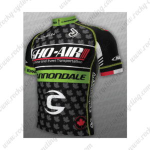 2013 Team SHO-AIR Cannondale Leaves Riding Jersey Maillot Shirt Grey Black Green