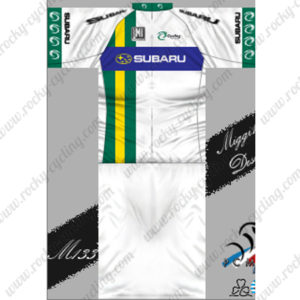 2013 Team SUBARU Cycling Kit White Green Blue