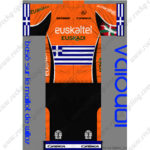 2013 Team euskaltel Euskadi Greece Cycling Kit Orange Black