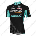 2014 Team BIANCHI TX Active Cycling Jersey Black Blue