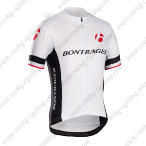 2014 Team BONTRAGER Cycling Jersey Maillot Shirt White Black