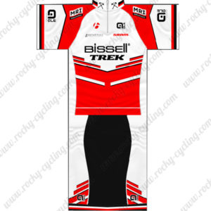 2014 Team Bissell TREK Cycling Kit White Red