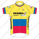 2014 Team COLOMBIA Cycling Jersey Maillot Shirt Yellow Blue Red