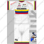 2014 Team COLOMBIA Cycling Kit White