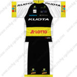 2014 Team KUOTA LOTTO Cycling Kit Black White Yellow