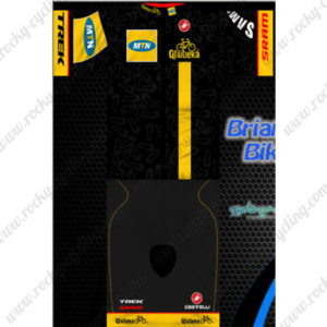 2014 Team MTN Cycling Kit Black Yellow