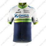 2014 Team ORICA GreenEDGE Cycling Jersey White Blue Green