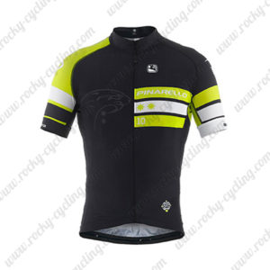 2014 Team PINARELLO Cycling Jersey Black Green