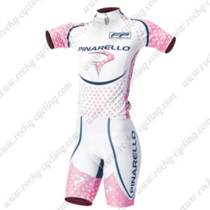 2014 Team PINARELLO Women's Cycling Kit White Pink