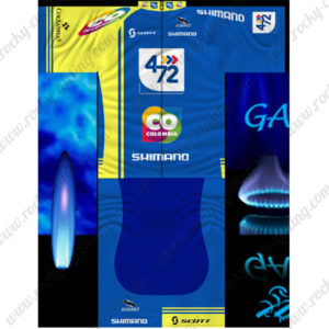2014 Team SHIMANO 472 COLOMBIA Cycling Blue Yellow