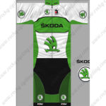 2014 Team SKODA Cycling Kit White Green