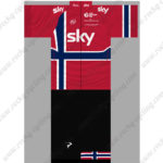 2014 Team SKY JAGUAR Cycling Jersey Red