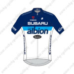 2014 Team SUBARU albion Cycling Jersey Maillot Tops Shirt Blue White