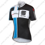 2014 Team Sportful Cycling Jersey Maillot Tops Shirt Black Blue