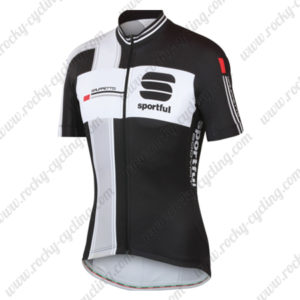 2014 Team Sportful Cycling Jersey Maillot Tops Shirt Black Grey