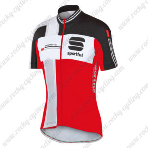 2014 Team Sportful Cycling Jersey Maillot Tops Shirt Black Red