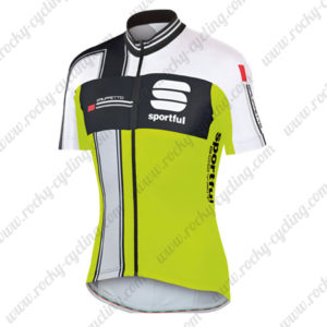 2014 Team Sportful Cycling Jersey Maillot Tops Shirt Black White Green