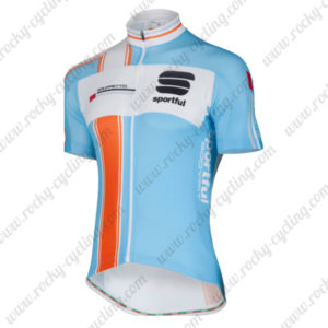 2014 Team Sportful Cycling Jersey Maillot Tops Shirt Blue Orange