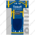 2014 Team Tinkoff SAXO BANK Cycling Kit Blue