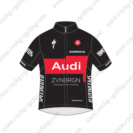 f312ad2ab92 ... Summer Winter Biking Maillot Jersey Tops Shirt Black Red. 2015 Team  Audi Cycling Jersey Black Red