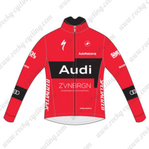 2015 Team Audi Cycling Jersey Red Black