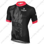 2015 Team BIANCHI Riding Jersey Black Red