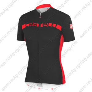 2015 Team Castelli Cycling Jersey Black Red