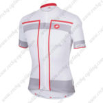 2015 Team Castelli Cycling Jersey White Grey Red